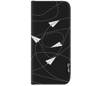 Paperplanes - Wallet Case Black Samsung Galaxy J7 (2017)