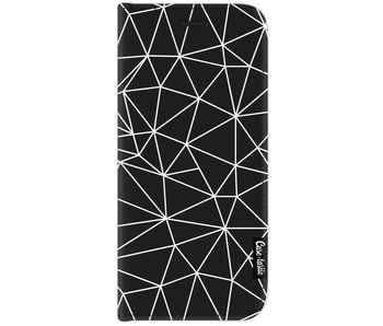 So Many Lines! White - Wallet Case Black Samsung Galaxy J7 (2017)