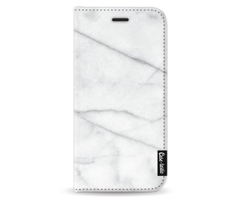 White Marble - Wallet Case Black Samsung Galaxy J5 (2017)