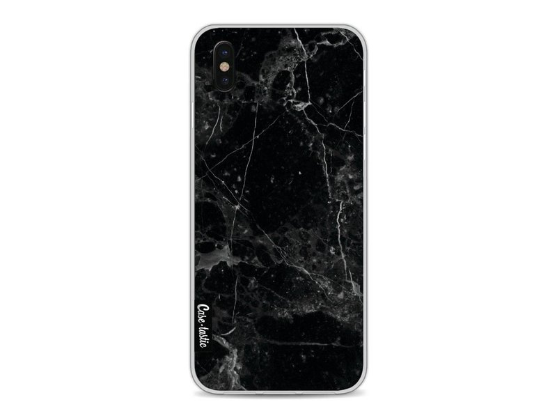 Casetastic Softcover Apple iPhone X - Black Marble