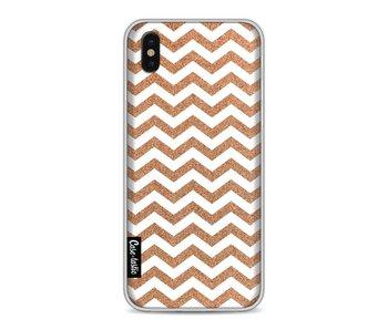 Copper Chevron - Apple iPhone X