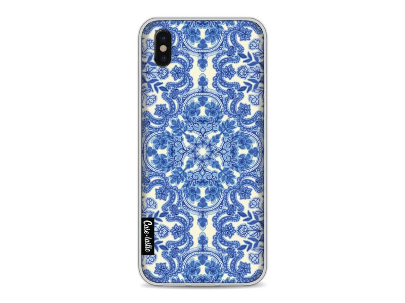 Casetastic Softcover Apple iPhone X - Blue White Folk Art