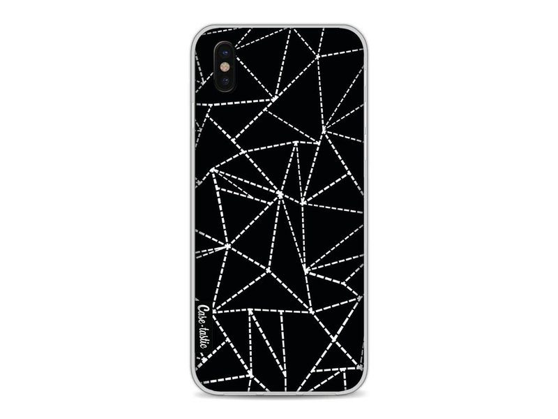 Casetastic Softcover Apple iPhone X - Abstract Dotted Lines Black
