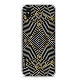 Casetastic Softcover Apple iPhone X - Abstraction Half Gold