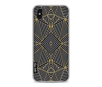 Abstraction Half Gold Transparent - Apple iPhone X