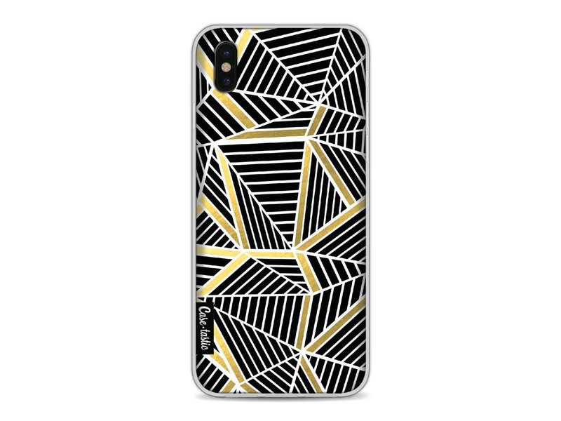 Casetastic Softcover Apple iPhone X - Abstraction Lines Black Gold