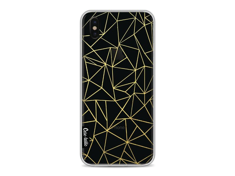 Casetastic Softcover Apple iPhone X - Abstraction Outline Gold Transparent