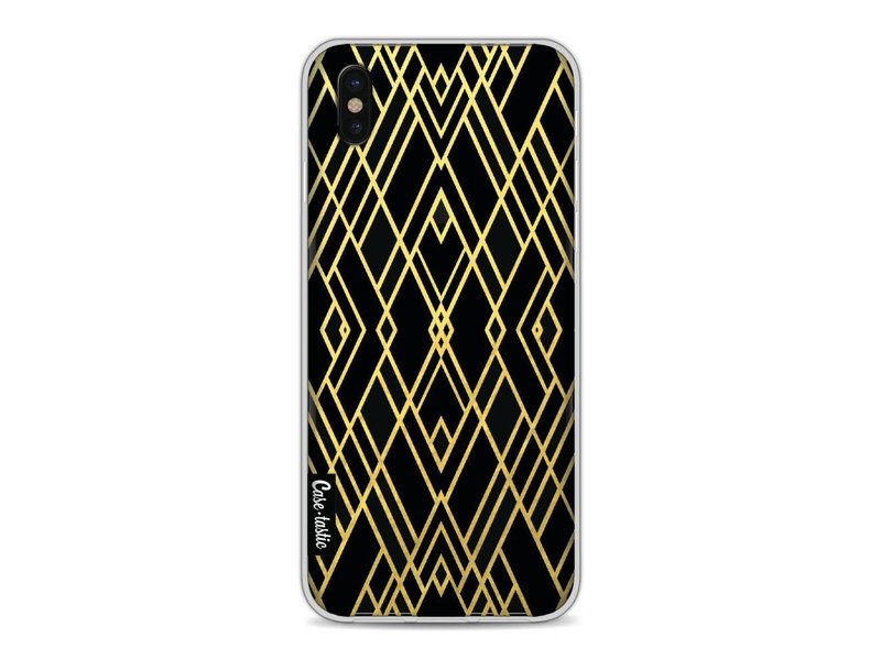 Casetastic Softcover Apple iPhone X - Art Deco Gold Black Transparent