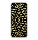 Casetastic Softcover Apple iPhone X - Art Deco Gold Transparent
