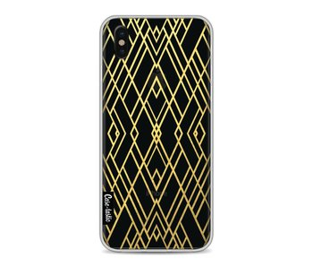 Art Deco Gold Transparent - Apple iPhone X