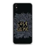 Casetastic Softcover Apple iPhone X - Cest La Vie BlackGold