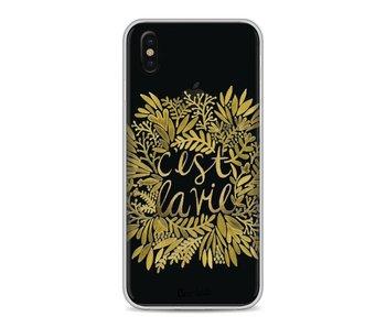 Cest La Vie Gold - Apple iPhone X