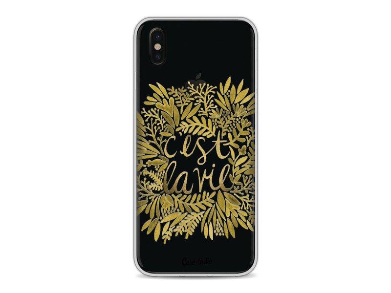 Casetastic Softcover Apple iPhone X - Cest La Vie Gold