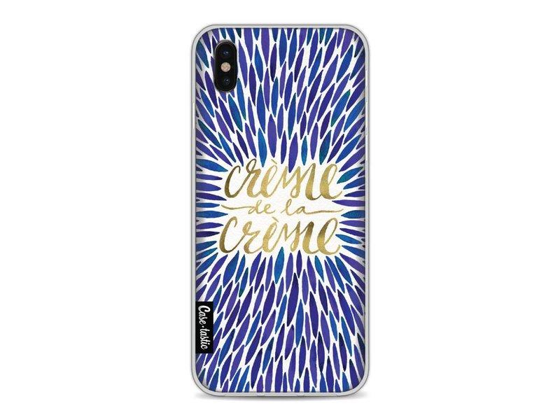 Casetastic Softcover Apple iPhone X - Creme de la Creme Navy