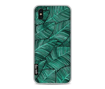 Tropical Leaves Turquoise - Apple iPhone X