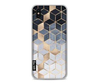 Soft Blue Gradient Cubes - Apple iPhone X