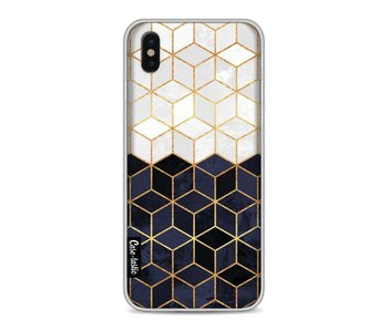 White and Navy Cubes - Apple iPhone X