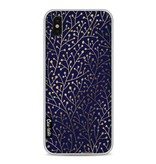 Casetastic Softcover Apple iPhone X - Berry Branches Navy Gold