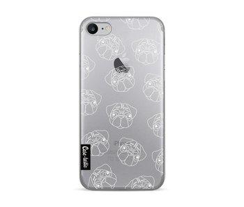 Pug Outline - Apple iPhone 7