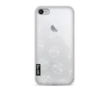 Pug Outline - Apple iPhone 8