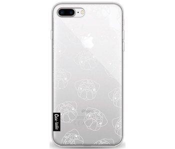 Pug Outline - Apple iPhone 8 Plus