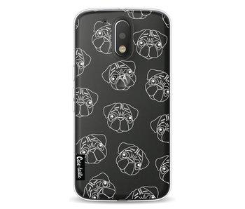 Pug Outline - Motorola Moto G4 / G4 Plus