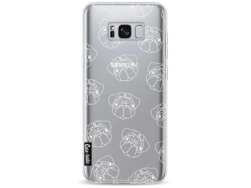Casetastic Softcover Samsung Galaxy S8 Plus - Pug Outline