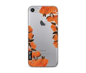 Orange Autumn Flowers - Apple iPhone 7