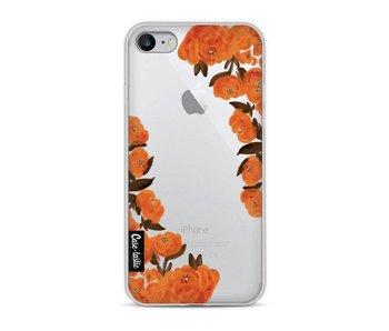 Orange Autumn Flowers - Apple iPhone 8