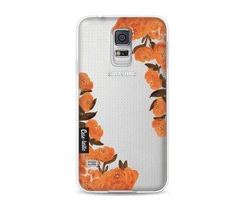 Orange Autumn Flowers - Samsung Galaxy S5