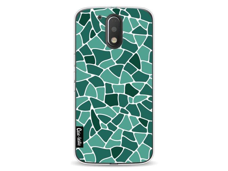 Casetastic Softcover Motorola Moto G4 / G4 Plus - Aqua Mosaic