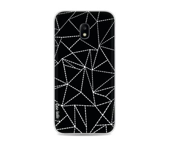 Abstract Dotted Lines Black - Samsung Galaxy J3 (2017)