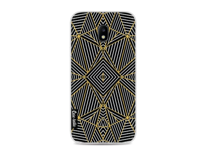 Casetastic Softcover Samsung Galaxy J3 (2017)  - Abstraction Half Gold
