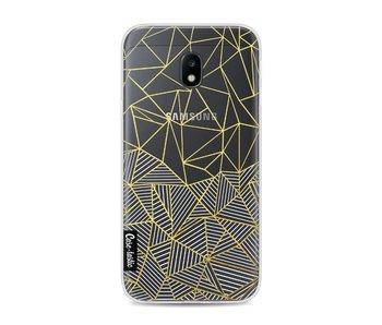 Abstraction Half Half Transparent - Samsung Galaxy J3 (2017)