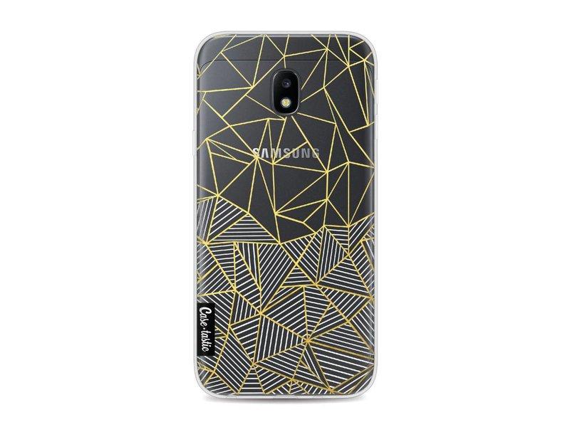 Casetastic Softcover Samsung Galaxy J3 (2017)  - Abstraction Half Half Transparent