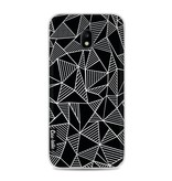 Casetastic Softcover Samsung Galaxy J3 (2017)  - Abstraction Lines Black
