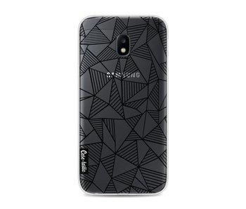 Abstraction Lines Black Transparent - Samsung Galaxy J3 (2017)