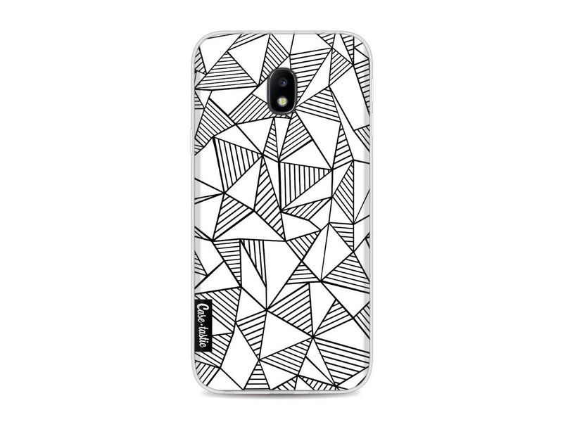 Casetastic Softcover Samsung Galaxy J3 (2017)  - Abstraction Lines White