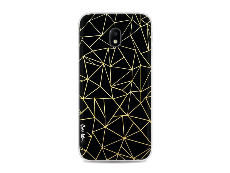 Casetastic Softcover Samsung Galaxy J3 (2017)  - Abstraction Outline Gold