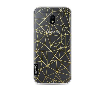 Abstraction Outline Gold Transparent - Samsung Galaxy J3 (2017)