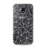 Casetastic Softcover Samsung Galaxy J3 (2017)  - Abstraction Outline White Transparent