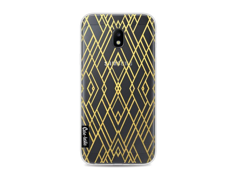 Casetastic Softcover Samsung Galaxy J3 (2017)  - Art Deco Gold Transparent