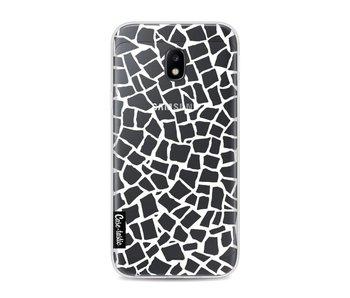 British Mosaic White Transparent - Samsung Galaxy J3 (2017)