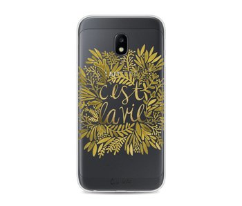 Cest La Vie Gold - Samsung Galaxy J3 (2017)
