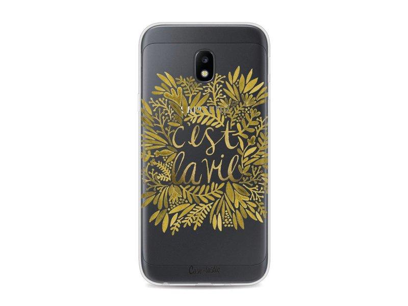 Casetastic Softcover Samsung Galaxy J3 (2017)  - Cest La Vie Gold