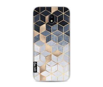 Soft Blue Gradient Cubes - Samsung Galaxy J3 (2017)