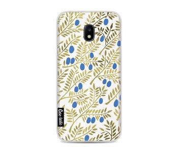 Blue Gold Olive Branches Artprint - Samsung Galaxy J3 (2017)