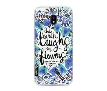 Laughs Flowers BlueBlack - Samsung Galaxy J3 (2017)