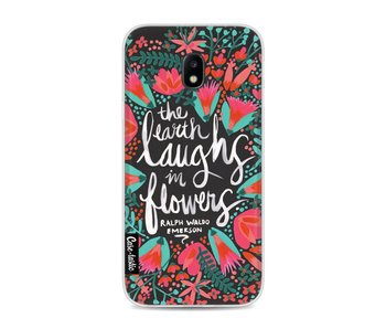 Laughs Flowers Charcoal - Samsung Galaxy J3 (2017)