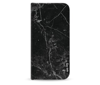 Black Marble - Wallet Case Black Samsung Galaxy J3 (2017)